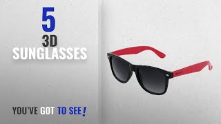 Top 10 3D Sunglasses [2018]: The Blue Pink Uv Protected Men & Women Classic Style Wayfarer