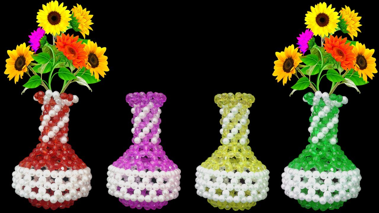 Beaded Flower Vase Beads Flower Pot Flower Vase