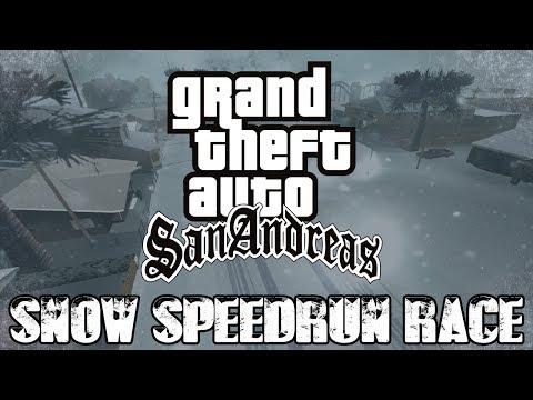 GTA: San Andreas SNOW SPEEDRUN RACE - Any%