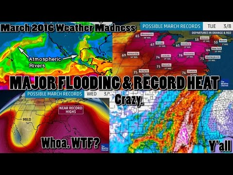 Major Storms, Flooding & Record Heat for USA begins Now & runs through the end of March 2016