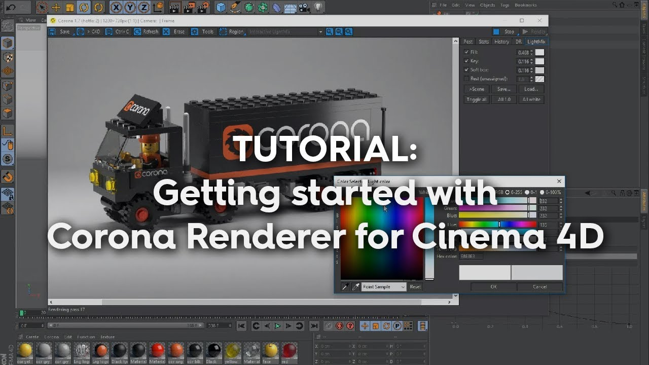 First Steps in Corona Renderer for Cinema 4D | Corona Renderer