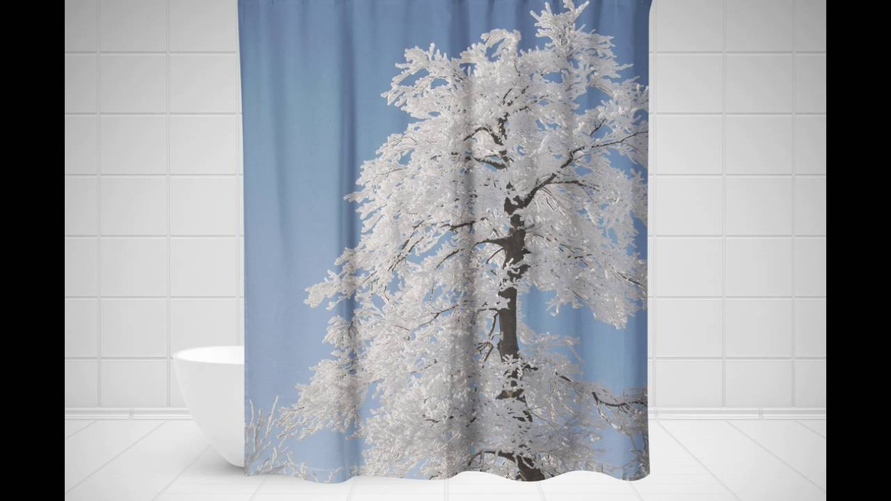Tree Shower Curtain | Birch Tree Shower Curtain | Palm Tree Shower Curtain