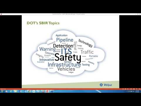 Intro to the Dept  of Transportation SBIR Program (Sept. 7, 2016)