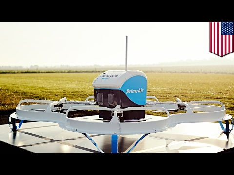 Amazon Prime Air to deliver packages via drone, then parachuting them to the ground - TomoNews