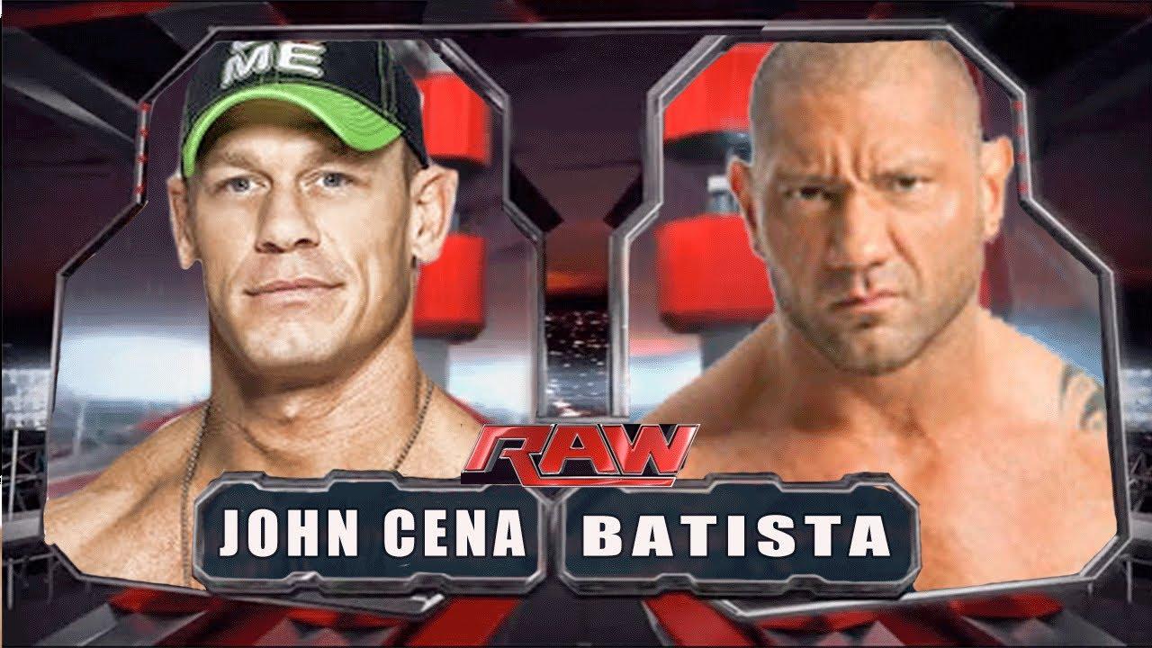 wwe raw 2014 john cena vs batista full match hd youtube