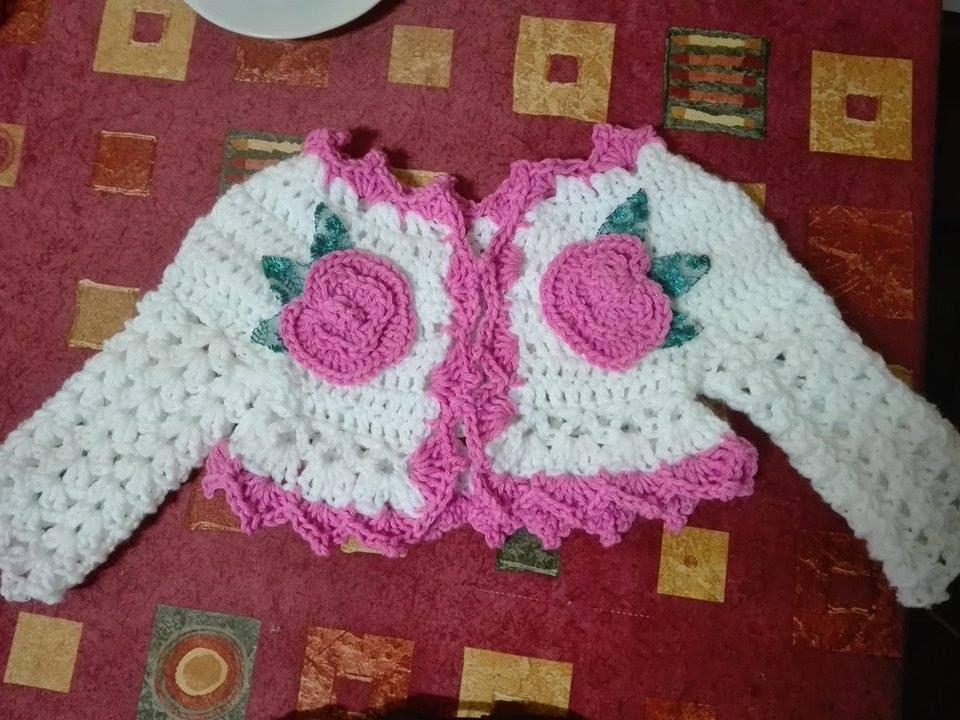 ef8a38a2c787a3 DIY.Tutorial handmade crochet baby sweater-bolero crosetat - YouTube