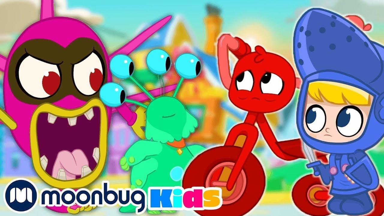 Halloween 4: Monsters! |  @Morphle TV | Learn | ABC 123 Moonbug Kids | Fun Cartoons