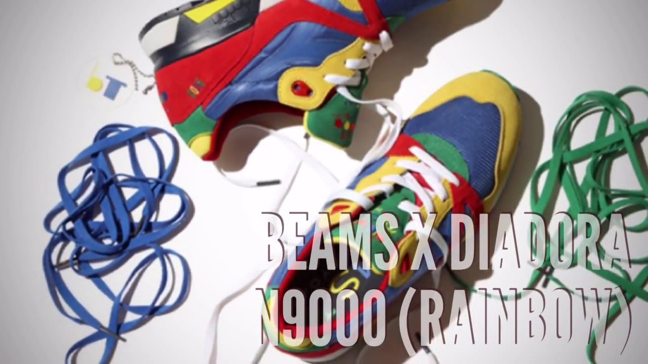 BEAMS x DIADORA N9000 (RAINBOW)  SNEAKERS T - YouTube 6e9d11da8d5e
