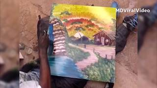 AMAZING FINGER PAINTING   WOW!