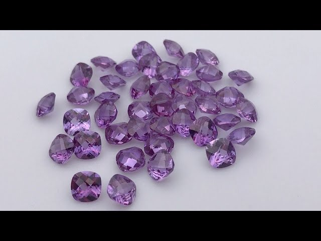 Synthetic Alexandrite 46# Color Change Cushion Cut Corundum Gemstones China Suppliers