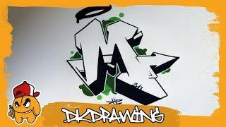 Graffiti Alphabet Tutorial - How to draw graffiti letters - Letter M