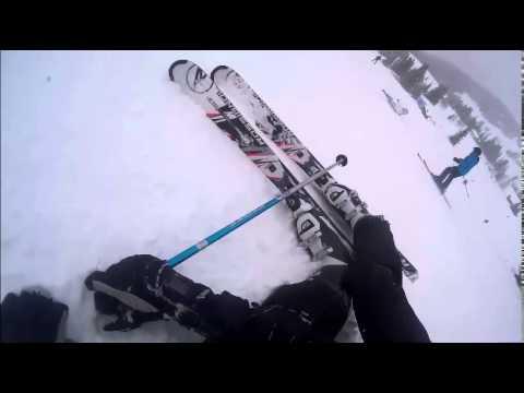 San cassiano skiing bits