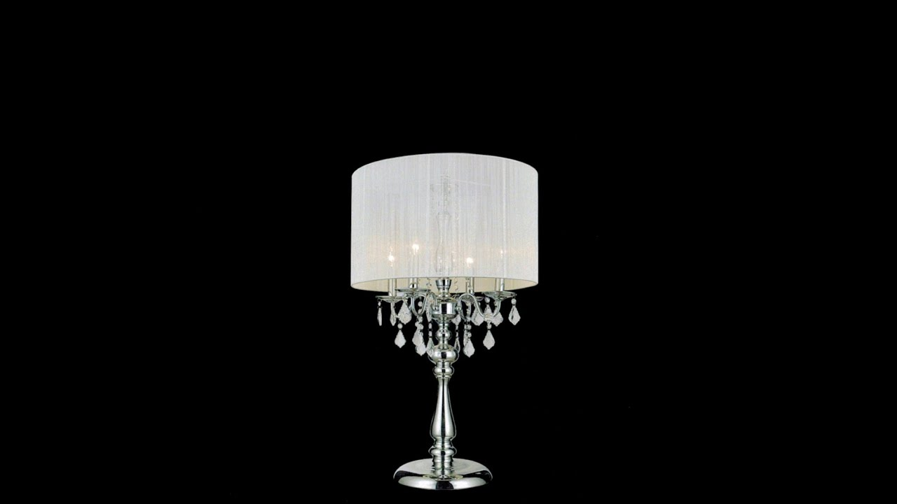 Crystal table lamp youtube crystal table lamp aloadofball Images