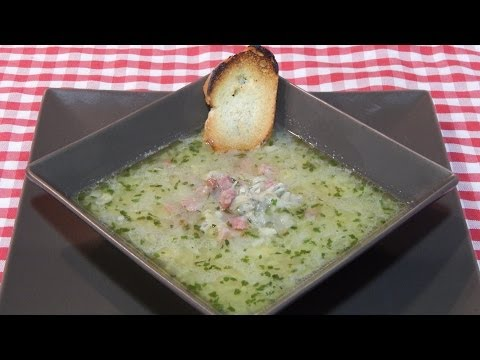 Receta de la sopa de almejas