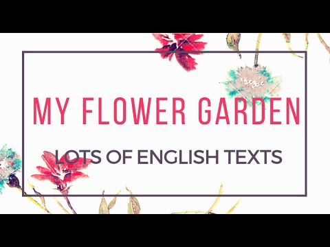 My flower garden | Easy English Texts