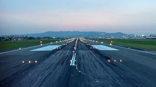 ANA Boeing 777-200 Takeoff / 夕暮れの伊丹空港 ANA 777-200 離陸 thumbnail