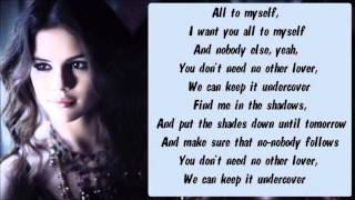 Selena Gomez - Undercover Karaoke / Instrumental with lyrics on screen