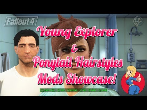 Fallout 4 - Young Explorer & Ponytail Hairstyles Mods Showcase! (XB1)