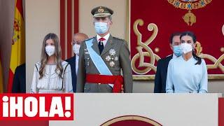 Los Reyes, junto a la infanta Sofía, presiden sin la princesa Leonor los actos de la Fiesta Nacional