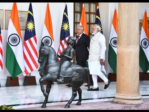 PM Modi with PM of Malaysia, Dato' Sri Mohd Najib Bin Tun Abdul Razak at Joint Press Statement