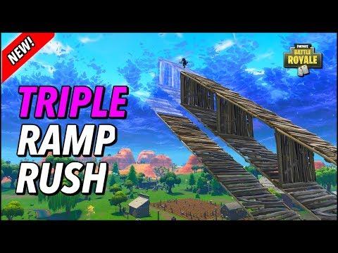 Console ANTI-SPLODES Triple Ramp Rush (Tutorial Fortnite Building Tips)
