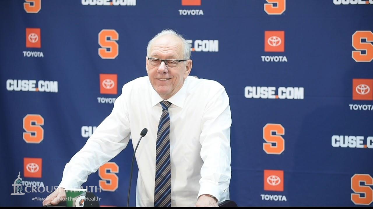 Jim Boeheim postgame news conference after Syracuse basketball vs. Duke (2020)