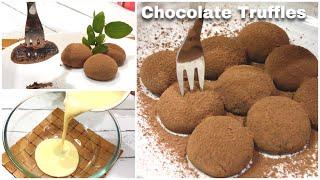 Condensed Milk Chocolate Truffles Recipe [2 Ingredients] Cocoa Powder Recipes