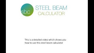 How to use the steel beam calculator