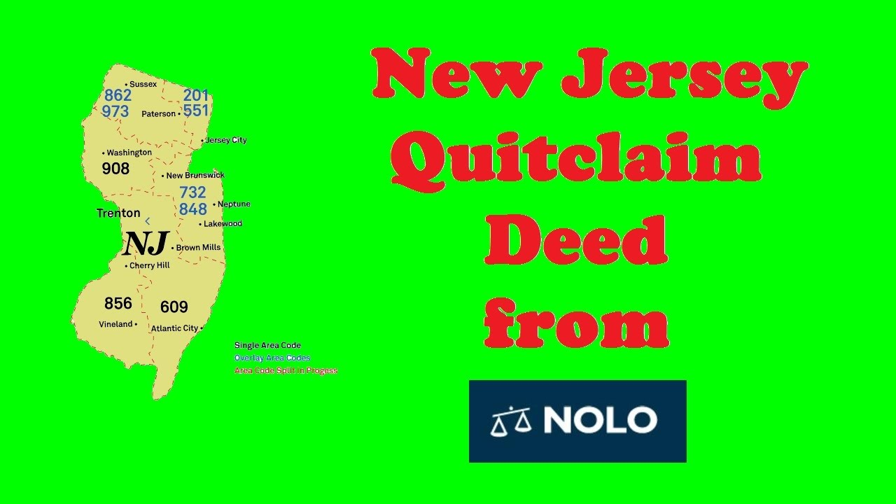 New Jersey Quitclaim Deed From Nolo YouTube - Area code 908