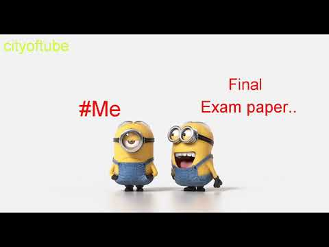 Me And Final Exam Paper Funny Video...whartsapp Status..
