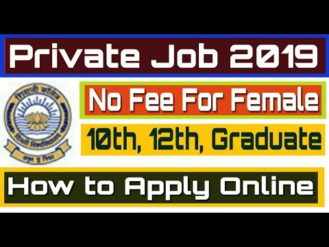 Private Job 2019 II Freshers Jobs II How to Apply Online II Learn Technical