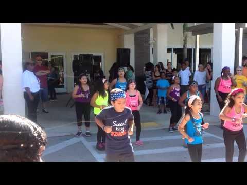 Zumba show at Keys Gate Charter School 2014
