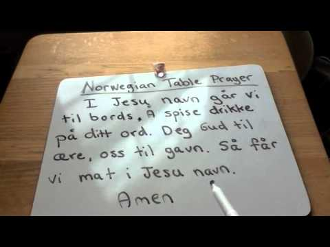 Norwegian Table Prayer Norway At Home