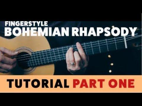 Bohemian Rhapsody - TUTORIAL PART ONE - Fingerstyle Guitar FREE TAB!