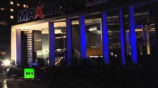 В Риге обрушился торговый центр