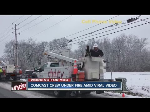 Thumbnail: State, Comcast investigating viral video of crashes where truck blocked traffic on icy road