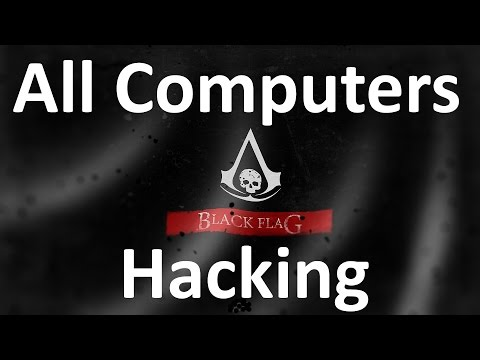 """Assassin's Creed 4: Black Flag"", All Abstergo Computer\Server\Camera Hacking + Content"