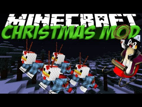 Christmas Mod: Minecraft Christmas Festivities Mod Showcase!
