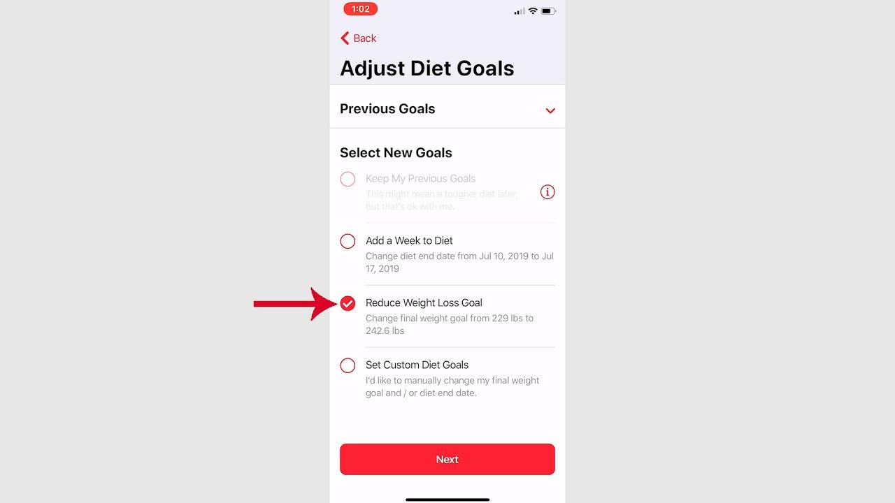 Adjusting Your Diet on the RP Diet App