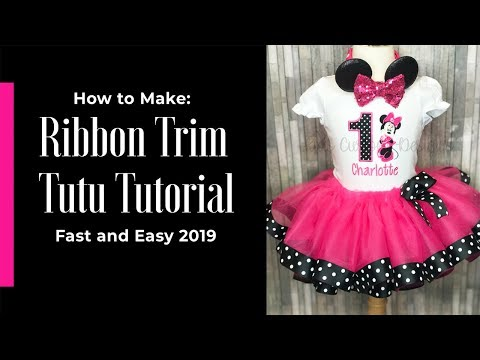 How To Make A Ribbon Trimmed Tutu Tutorial 2019 Start To Finish! Como Hacer Tutu Con Listón
