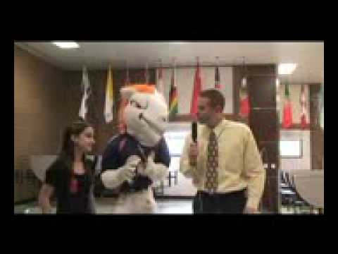 Fort Collins Middle School interviews Miles, the Denver Broncos mascot!