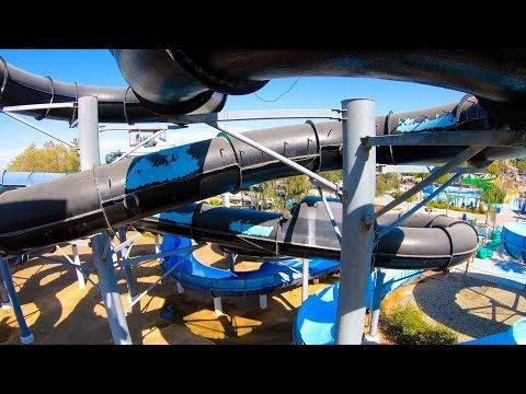 Nature's Fury Blue Slide - Island Water Park - Fresno, CA