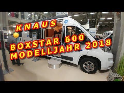 KNAUS BOXSTAR 600, MODELLJAHR 2018, KASTENWAGEN, SUISSE CARAVAN SALON 2017