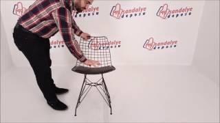 Taylor metal sandalye siyah renk