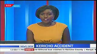 Kericho Accident: 31 passengers escaped death narrowly after bus collided with a truck