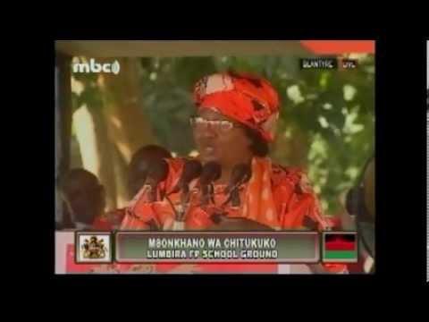 Joyce Banda at People's Party Chilomoni Mass Rally April 20, 2013