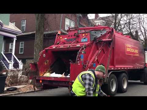 (Special Upload) Brookline DPW Sanitation Department 345 and 343~ Mack Leach Rear Loaders (Before)