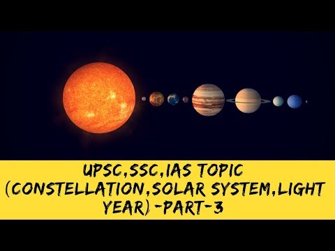 GEOGRAPHY PART 3  CONSTELLATION, LIGHT YEAR, SOLAR SYSTEM