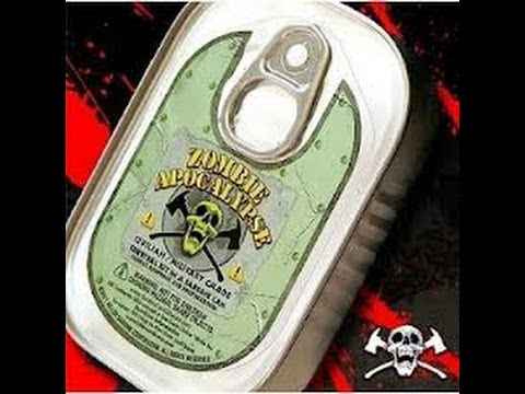Zombie Apocalypse Survival Kit In A Sardine Can Unboxing + Surprise!