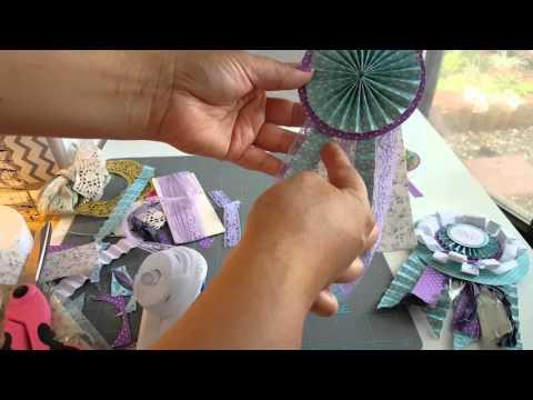 How to make Award ribbon rosettes